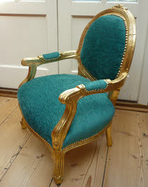 Gold Child's Chair