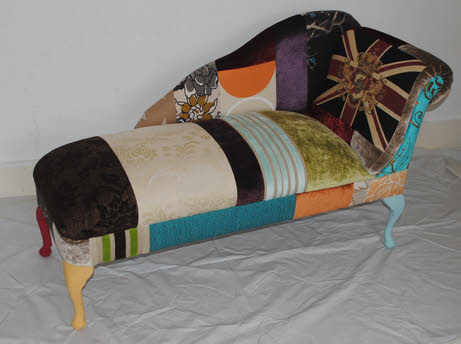 Bespoke patchwork chaise longue