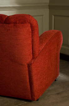 1940s red armchair